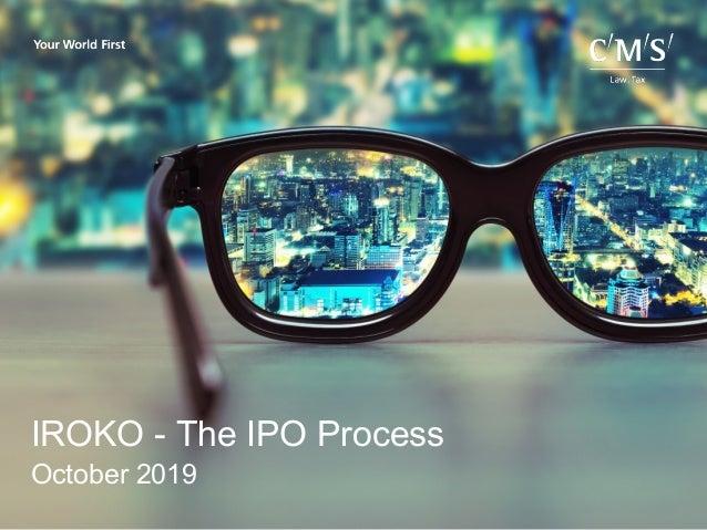 IROKO - The IPO Process October 2019