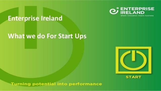 Enterprise Ireland What we do For Start Ups