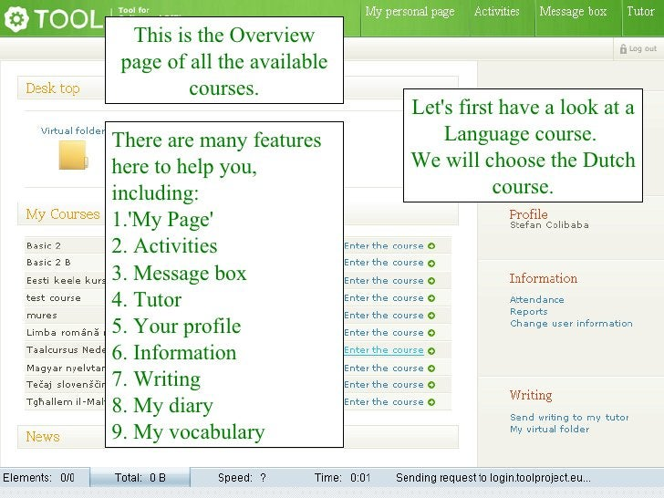 This is the Overview page of all the available courses. There are many features here to help you, including: 1.'My Page' 2...