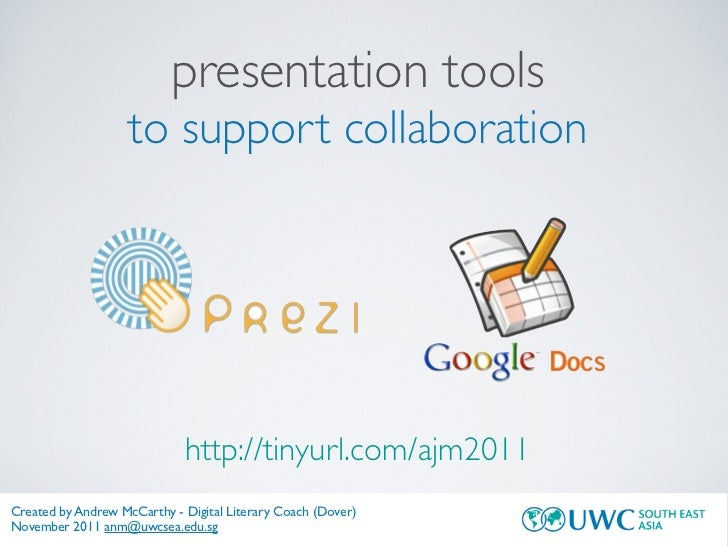 presentation tools                    to support collaboration                             http://tinyurl.com/ajm2011Creat...