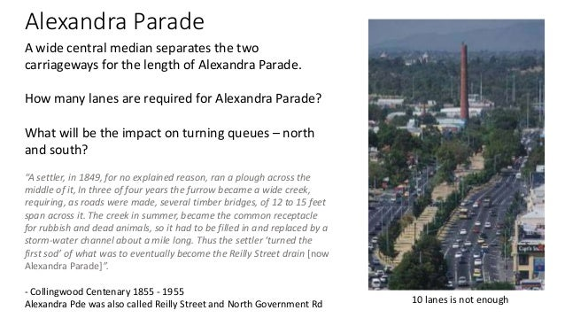 Realign Central Median?  • Realigning the Parade would free up the centre media as usable open  space. More than the entir...