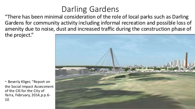 """Darling Gardens  """"There has been minimal consideration of the role of local parks such as Darling  Gardens for community a..."""