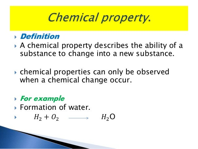 physical and chemical property and physical and chemical ...
