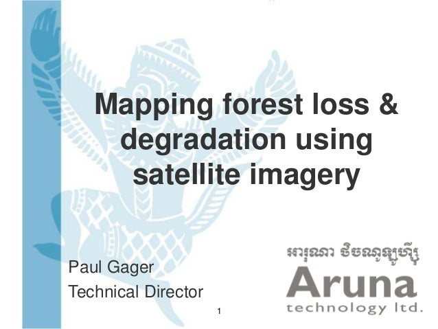 Mapping forest loss & degradation using satellite imagery Paul Gager Technical Director 1