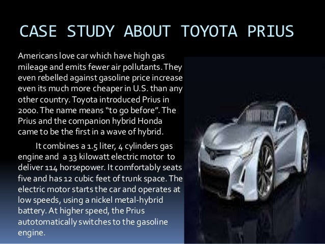prius leading a wave of hybrids Prius: leading a wave of hybrid 1 what micro environmental factors affected both the first generation and second generation models of the toyota pries.