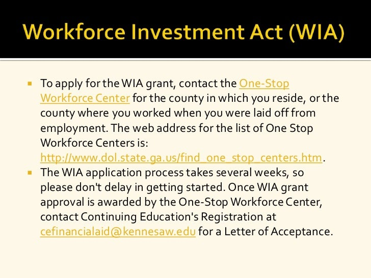 Workforce investment act scholarship program api oil inventory forexlive commerce