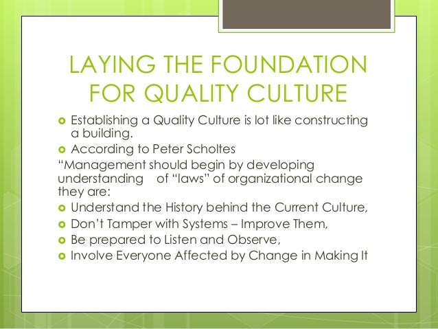 how to change quality culture