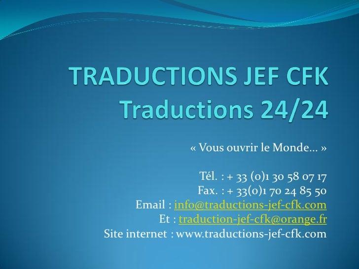 Presentation Traductions Jef Cfk 20100715
