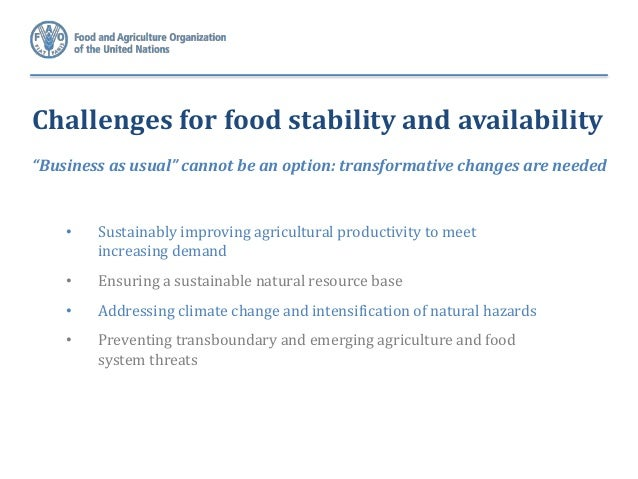 food and agricultural challenges essay Agriculture uses approximately 70% of food, and water: challenges and opportunities the pacific institute conducts research and works with innovative.