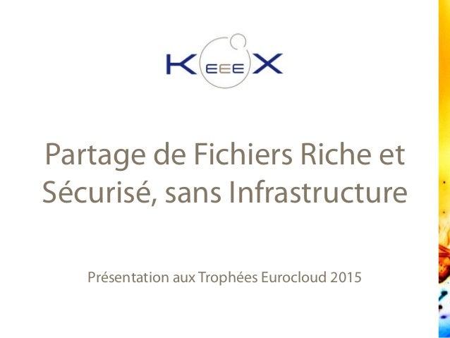 Présentation aux Trophées Eurocloud 2015 Partage de Fichiers Riche et Sécurisé, sans Infrastructure