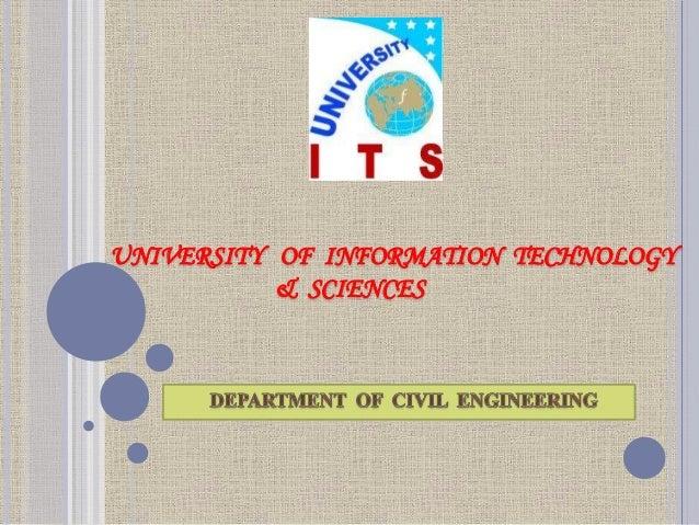 UNIVERSITY OF INFORMATION TECHNOLOGY & SCIENCES