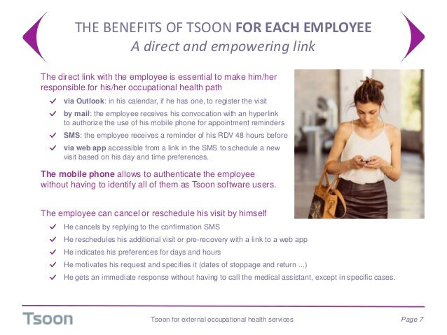 THE BENEFITS OF TSOON FOR EACH EMPLOYEE A direct and empowering link  The direct link with the employee is essential to m...