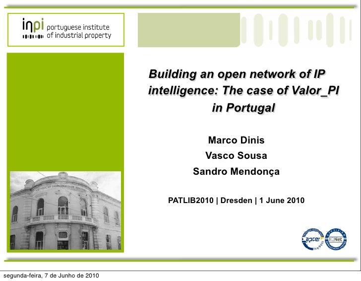 Building an open network of IP                                     intelligence: The case of Valor_PI                     ...