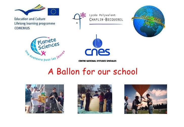 A Ballon for our school