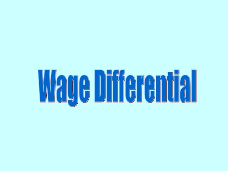 wage differentials and wage discrimination Pay or compensation discrimination occurs when employees performing similar work do not receive similar remuneration pay discrimination also occurs when a pay differential has an illegitimate basis such as race or sex.