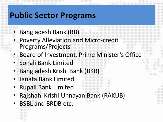 Financing Agriculture Technology Transfer in Bangladesh
