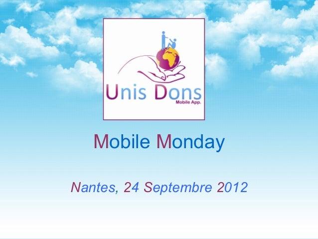 Mobile MondayNantes, 24 Septembre 2012