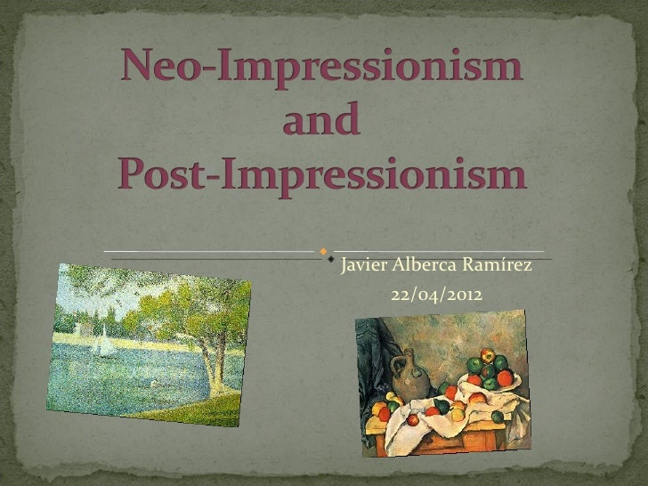 Impressionism and post impressionism essay