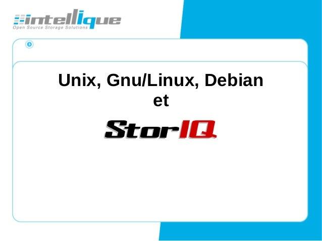Unix, Gnu/Linux, Debian et