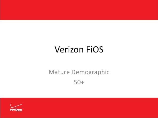 Verizon FiOS Mature Demographic 50+