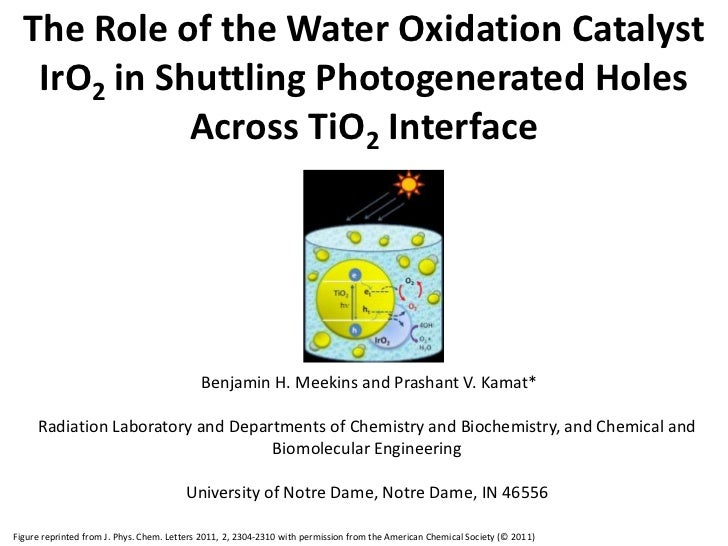 The Role of the Water Oxidation Catalyst IrO2 in Shuttling Photogenerated Holes Across TiO2 Interface<br /> Benjamin H. Me...