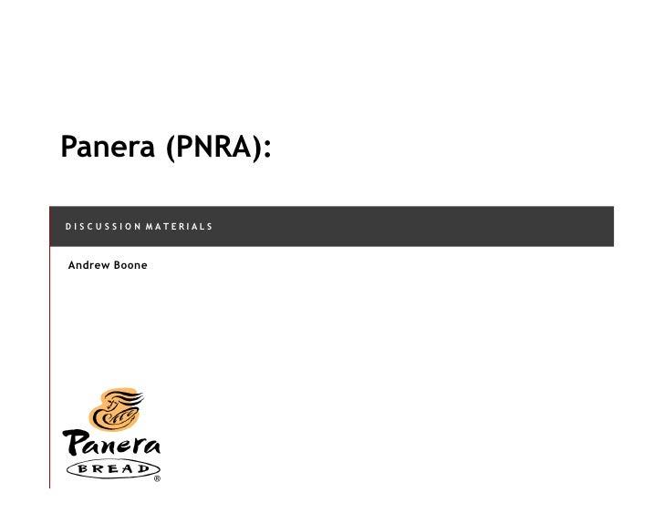 panera ppt Porter's generic value chain support activities primary activities infrastructure human resource management technology development procurement inbound.