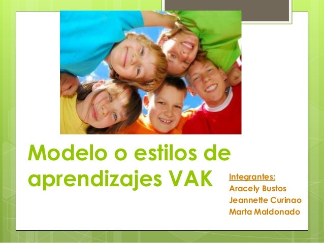 Modelo o estilos deaprendizajes VAK Integrantes:Aracely BustosJeannette CurinaoMarta Maldonado