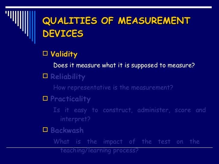 Presentation Validity Reliability