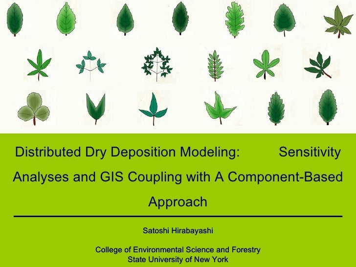 Distributed Dry Deposition Modeling:  Sensitivity Analyses and GIS Coupling with A Component-Based Approach Satoshi Hiraba...