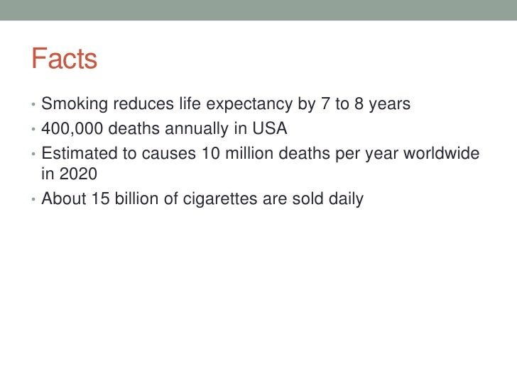 Facts• Smoking ...