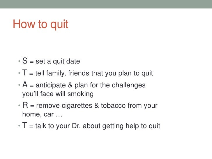 presentation about smoking