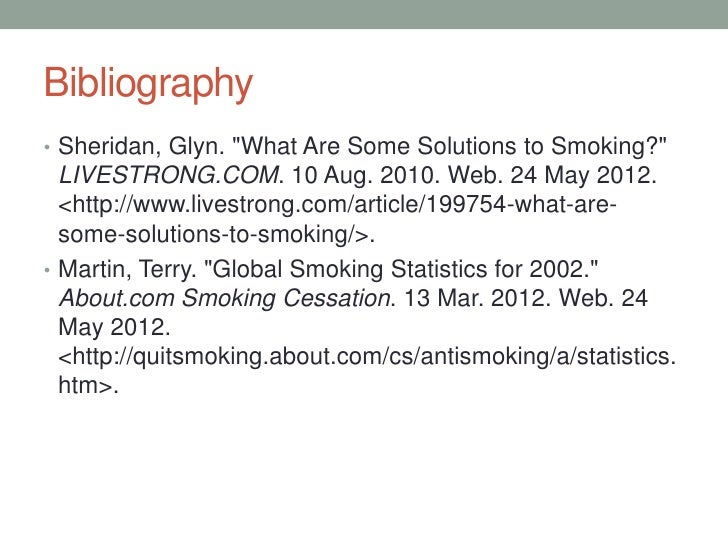 how to stop smoking presentation