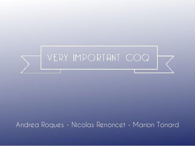 Andrea Roques - Nicolas Renoncet - Marion Tonard