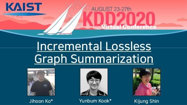 Incremental Lossless Graph Summarization Jihoon Ko* Yunbum Kook* Kijung Shin
