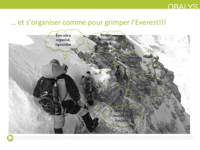 OBALYS… et s'organiser comme pour grimper l'Everest!!! Rester  groupés, penser collec0f Avoir le...