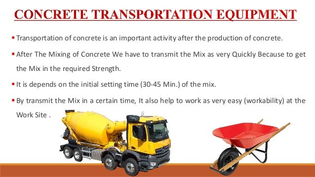 TOOLS AND MACHINERY USE FOR THE CONCRETE PRODUCTION AND SUPPLY