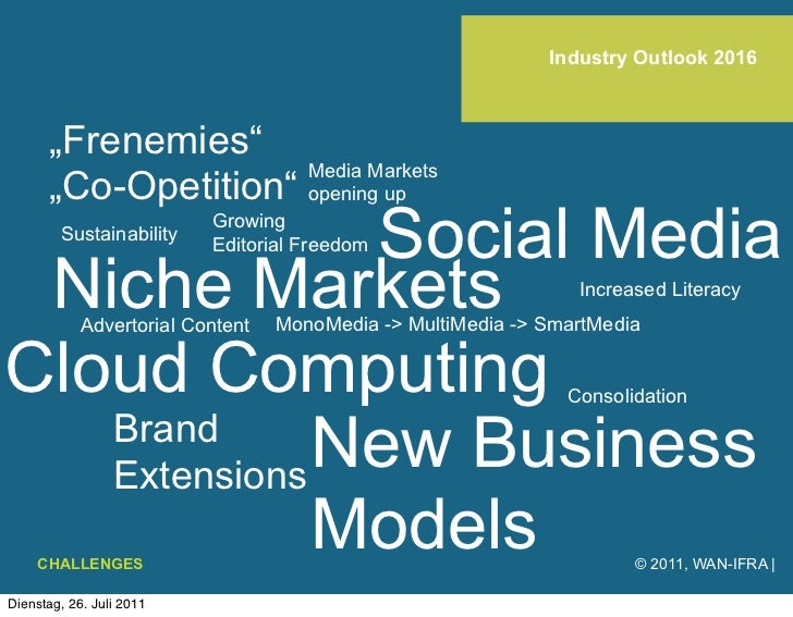 """Industry Outlook 2016      """"Frenemies""""                     Media Markets      """"Co-Opetition"""" opening up               Soci..."""