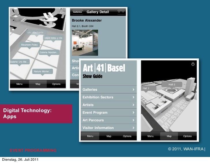 Digital Technology:Apps    EVENT PROGRAMMING     © 2011, WAN-IFRA |Dienstag, 26. Juli 2011