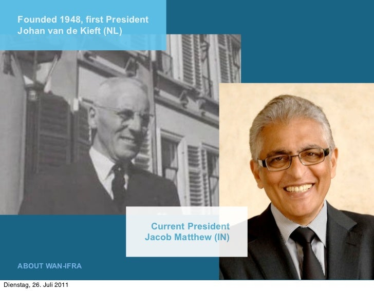 Founded 1948, first President    Johan van de Kieft (NL)                                 Current President                ...