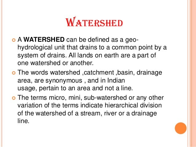 watershed management meaning