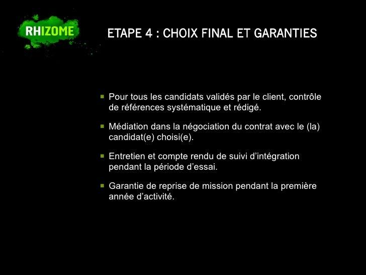 Presentation cabinet de recrutement rhizome - Entretien avec cabinet de recrutement ...