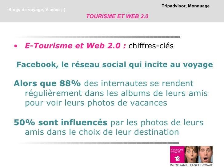 Tripadvisor, MonnuageBlogs de voyage, Viadéo ;-)                              TOURISME ET WEB 2.0  • E-Tourisme et Web 2.0...