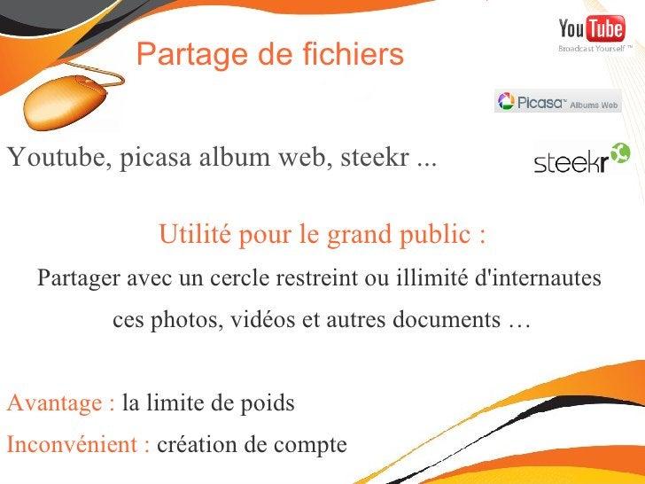 Définition du  web 2.0 Vous utilisez déjà peut-être des outils 2.0 : <ul><ul><li>Transfert et partage de photos sur  picas...