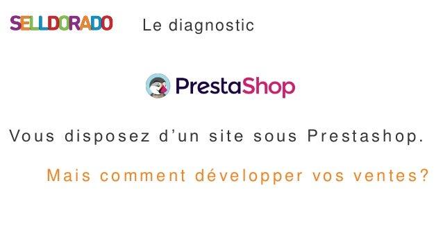 Webinar : Vous avez une boutique en ligne Prestahop : grâce à Selldorado faites-vous connaitre et générez plus de ventes. Slide 3