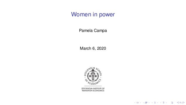 Women in power Pamela Campa March 6, 2020
