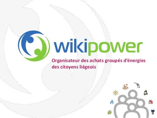 Organisateur des achats groupés d'énergies des citoyens liégeois