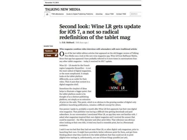 QUI REGARDE WINE LR ? • Les amateurs de vins, ceux qui recherchent les bons conseils pour déguster et découvrir cette régi...