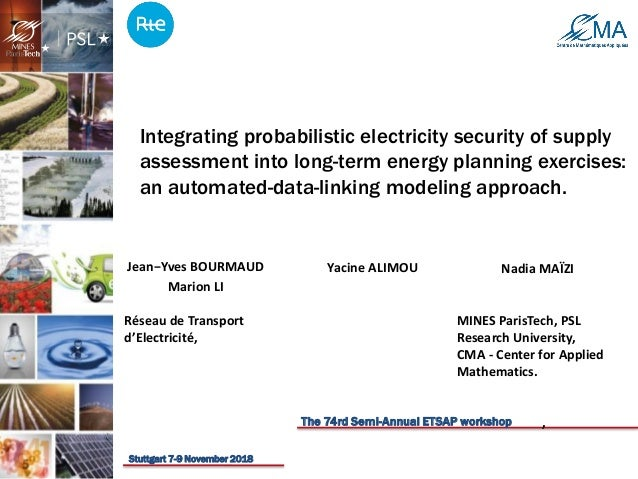 Integrating probabilistic electricity security of supply assessment into long-term energy planning exercises: an automated...