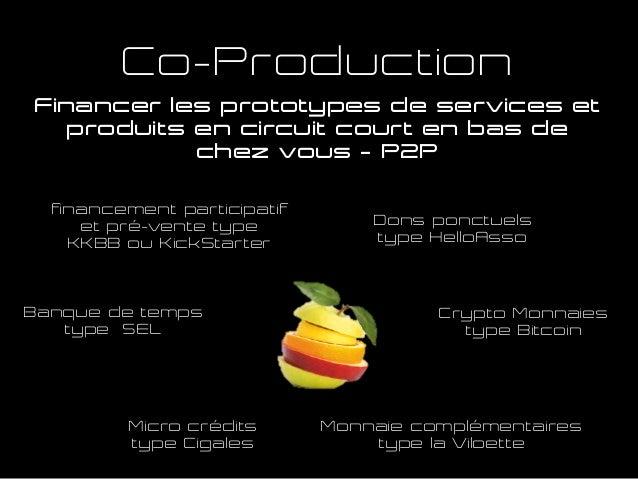 Financer les prototypes de services et produits en circuit court en bas de chez vous – P2P Co-Production Micro crédits typ...
