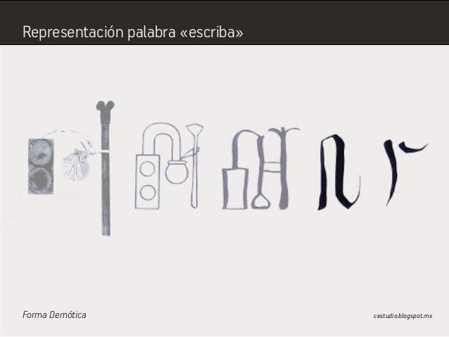 Forma Demótica cestudio.blogspot.mx Representación palabra «escriba»